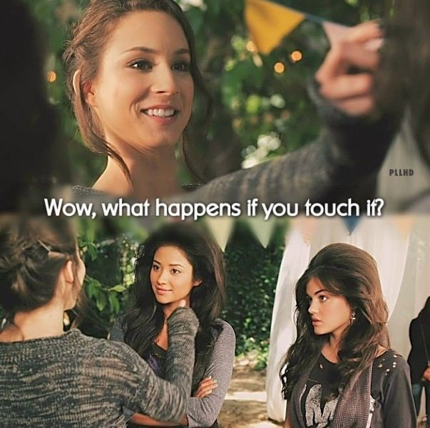 Haha, Mona's birthday party - PLL oh Spencer we love you