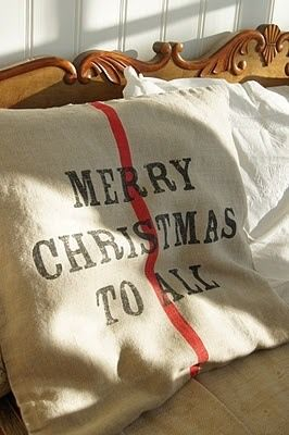 Dream on...use Christmasy pillowcases, too, if having overnight guests