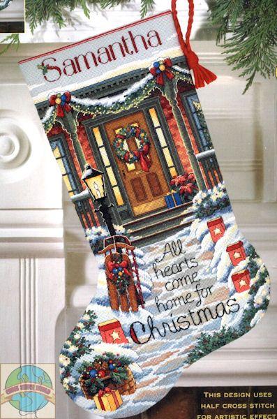 cross stitch christmas stockings - Google Search
