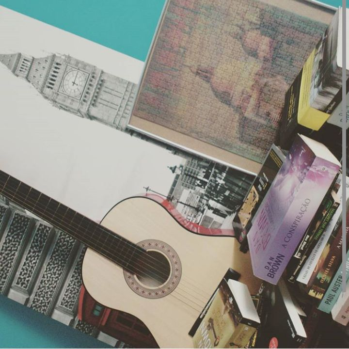 #books #guitar #London