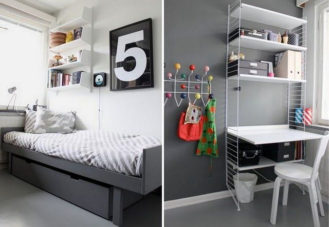 Kids room with a black bed and a black wall pinned for the Bugaboo All Black Contest #ConvertToBlack