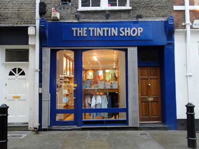 The Tintin store on Floral St in Covent Garden