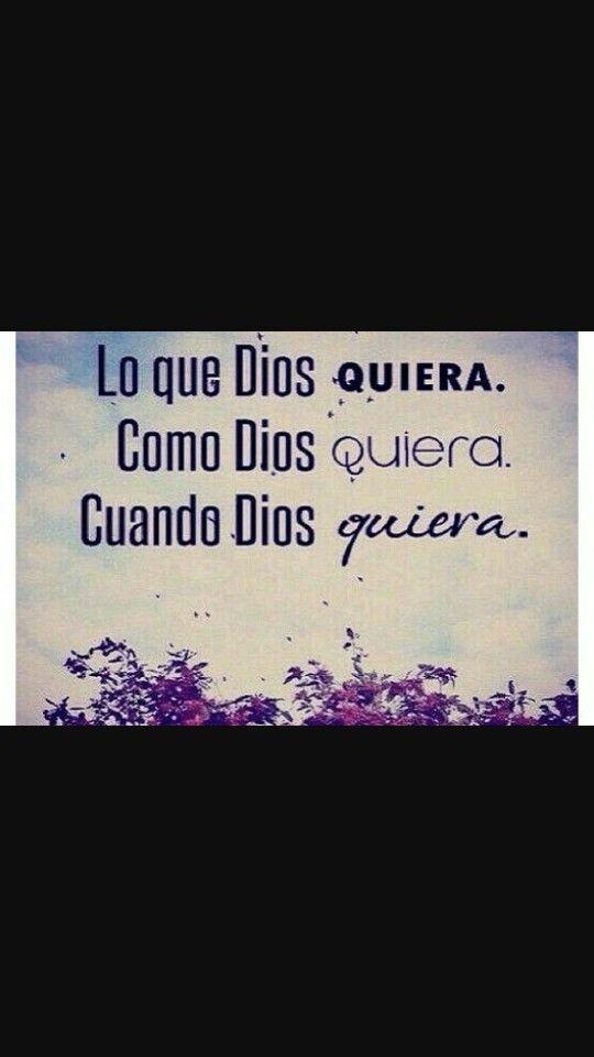 Sólo Dios sabe lo q va a hacer