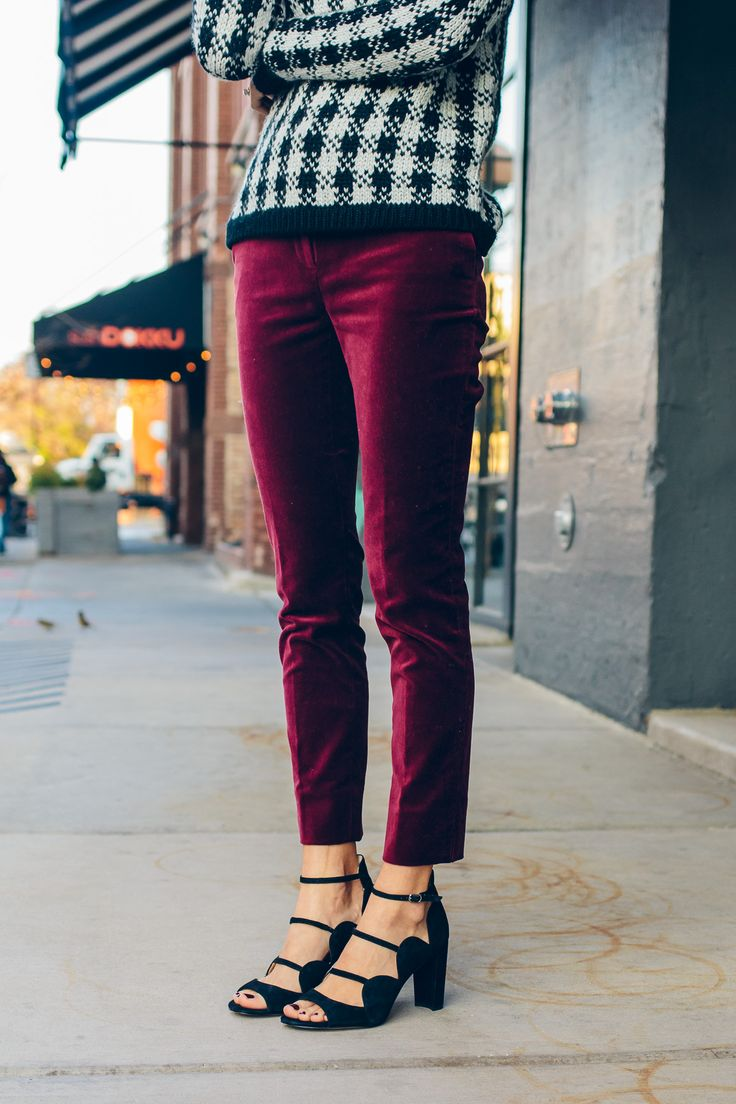 red velvet ankle pants                                                                                                                                                                                 More