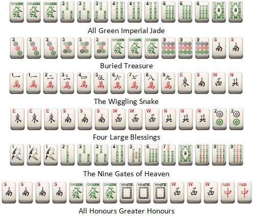 Some Of The Rarer Mahjong Hands Magnificent Mahjong