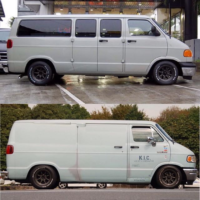 These #dajiban style Dodge Rams are really making an impression on me! Think I'll have to go this style on one in the future to use as a more daily van! #vannin #vanning #dajiban #dodge #mopar #dodgeramvan #instavanners