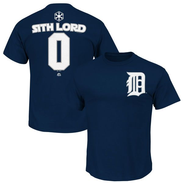 Detroit Tigers Majestic Youth Star Wars Sith Lord Name & Number T-Shirt - Navy - $21.99