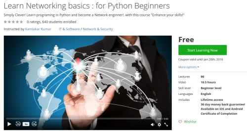 Learn Networking basics : for Python Beginners http://ift.tt/204Hhl0  #udemy #coupon #discount #couponcode