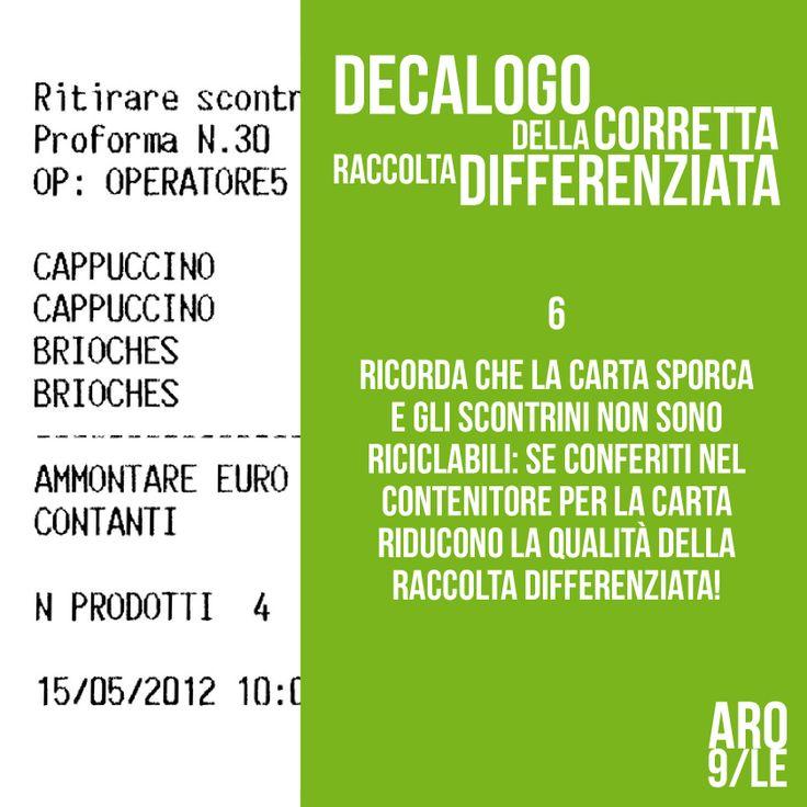 Aro9 - decalogo della corretta differenziata
