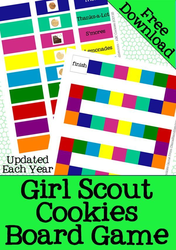 Girl Scout Cookies Game - Help your Girl Scout Troop learn their cookies with this Girl Scout Cookies Game Free Download and Printable. It has cookies for both ABC Bakers and Little Brownie Bakers. This will be updated each December with any new cookies that get added. #GirlScouts #GirlScoutCookies #ThinMints #FreeDownload #Printable