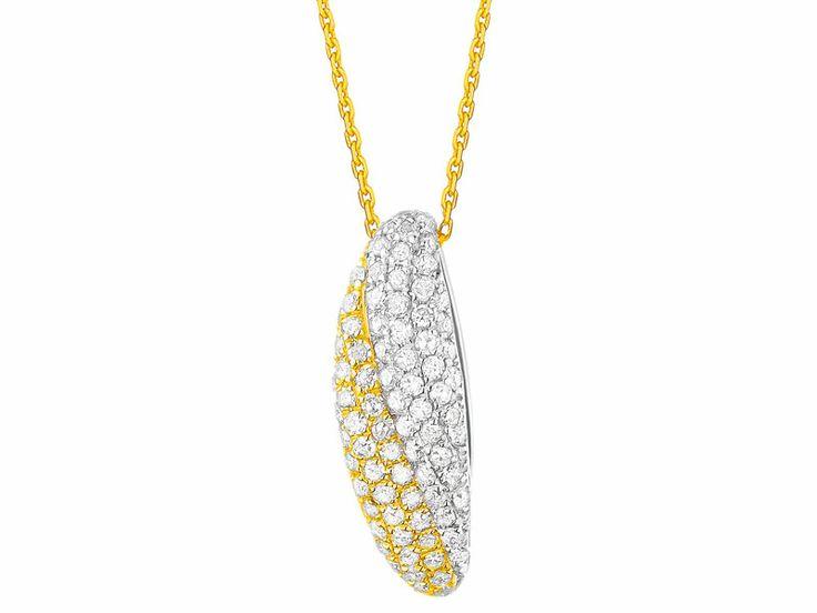 Zawieszka z żółtego złota z diamentami | Apart