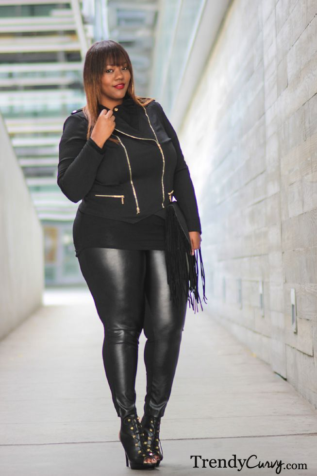 Trendy Curvy Plus Size Fashion Total Black Look Enjoy The Outfit Bbw Ladies