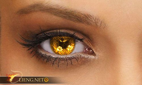 Yellow eye Color | Custom contact lenses | Photo Editing