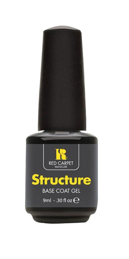 Το Structure base coat της Red Carpet Manicure είναι ο απαραίτητος σύνδεσμος μεταξύ του νυχιού και του ημιμόνιμου βερνικιού που επισφραγίζει μακράς διάρκειας αποτελέσματα (έως και 21 ημέρες). Εφαρμόζεται σαν βερνίκι σε μία λεπτή στρώση, πολυμερίζεται στην φορητή Led λάμπα και συντελεί στην μέγιστη δυνατή επικόλληση του χρώματος στα νύχια.     Τιμή 16,50€