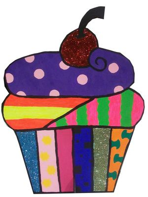 Cupcake!! A great Wayne Thiebaud project for the littles.