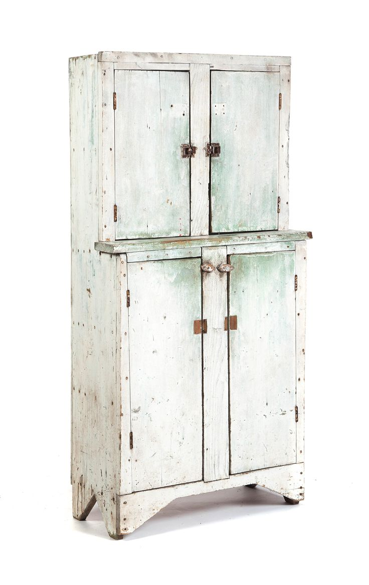AMERICAN STEPBACK CUPBOARD. Late 19th c - 290 Best Antique Painted Cupboards Images On Pinterest Antique
