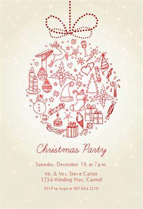 template christmas invitation