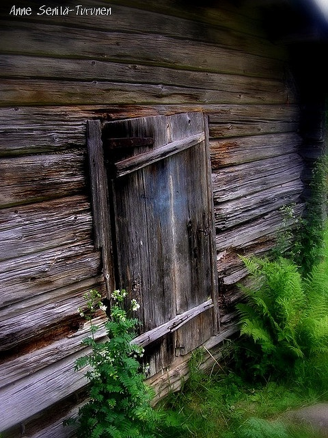 Old door in Finland