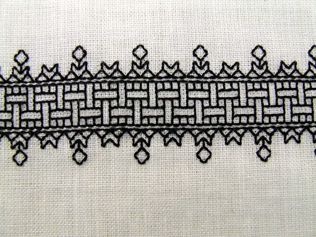 16th Century Blackwork (cenefa perfecta para un mantel)