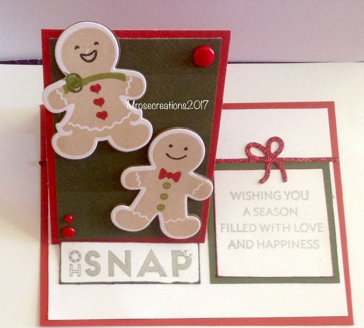 CTMH Gingerbread friends and thin cuts. #Ohsnap#popupcard#sofun Maryroberts.ctmh.com