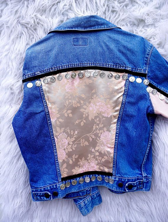 CUSTOM STONE LUNA Vintage Levi Denim Jacket - Vintage Distressed Levi Jean Jacket, Womens small medium Oversized Denim Jacket, Vintage SHOP HERE ✨ www.etsy.com/ca/shop/StoneLunaBoutique ✨