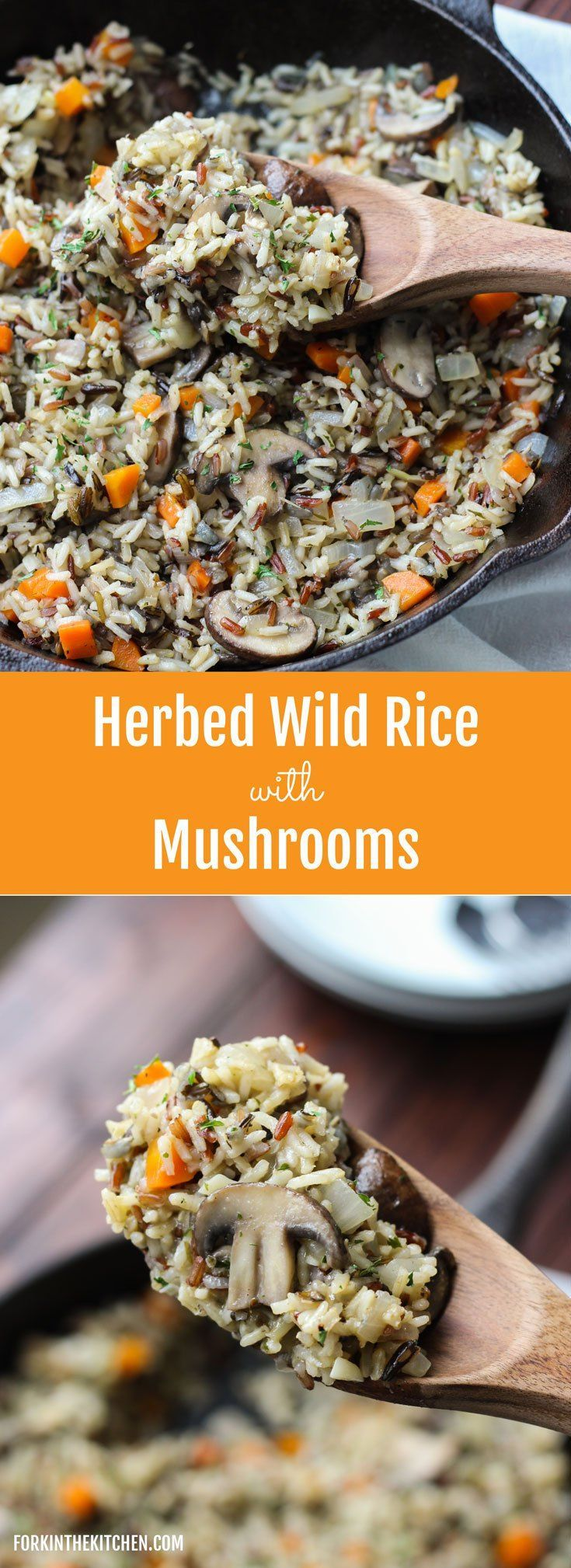 Herbed Wild Rice with Mushrooms - easy, healthy, and incredibly delicious!