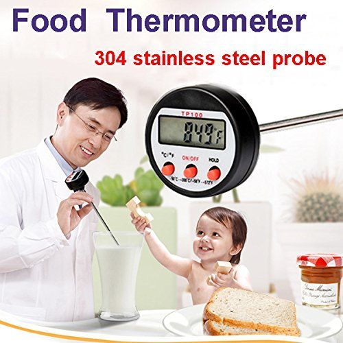 304 Stainless Steel Food BBQ Probe Thermometer Barbecue Meat Thermometer Kitchen Measuring Tool * Check out this great product.