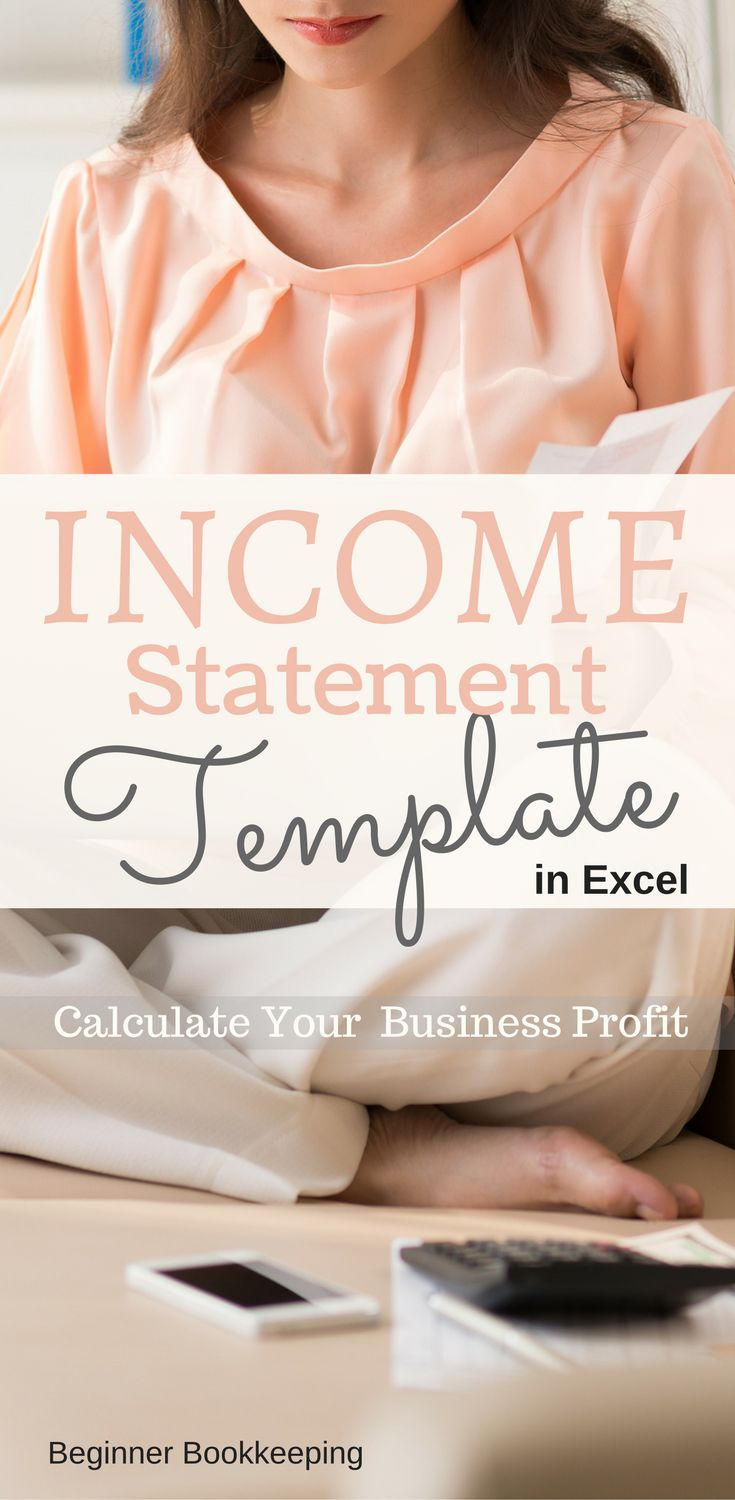 Income statement template in Microsoft Excel to help you calculate the profit for your small business.