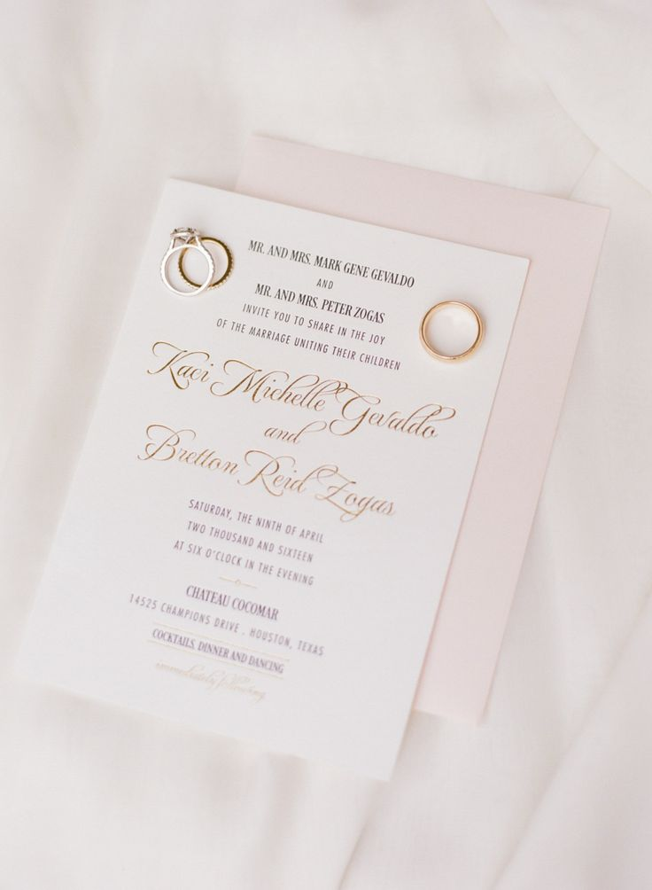 295 best wedding stationery images on pinterest invitation suite bright pink glamorous gold will never go out style stopboris Gallery