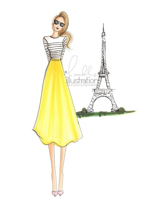 Oui Oui Paris Print by HNIllustration on Etsy