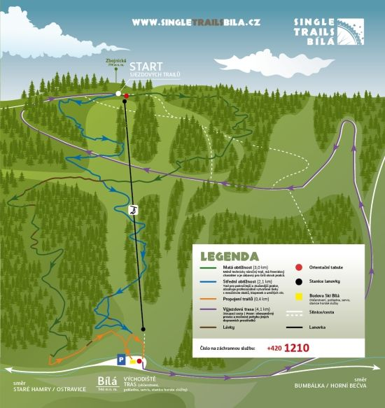 The single trails park also provides plenty of scope for walking and exploring the Bila mountain. The website is in English and the area is easy to access by car and there are regular busses up there too.