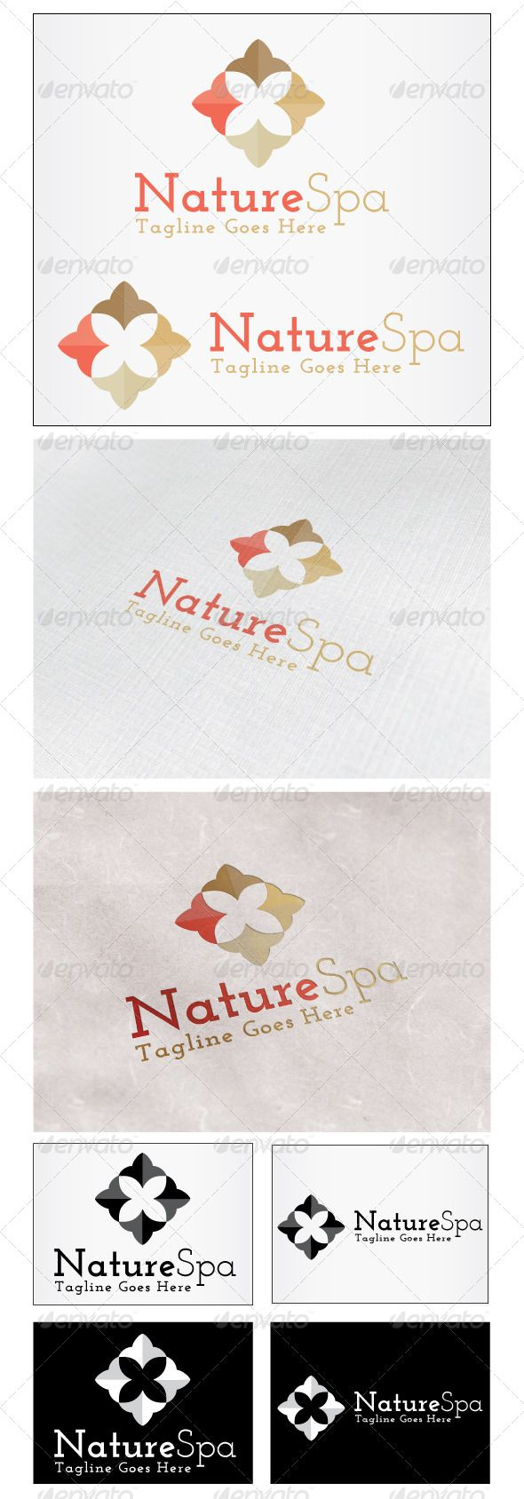 Nature Spa Logo - Nature Logo Templates