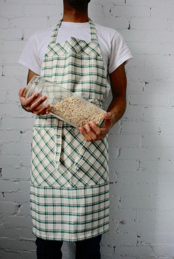 Mens apron large mens apron gardening apron grilling by SSatHome