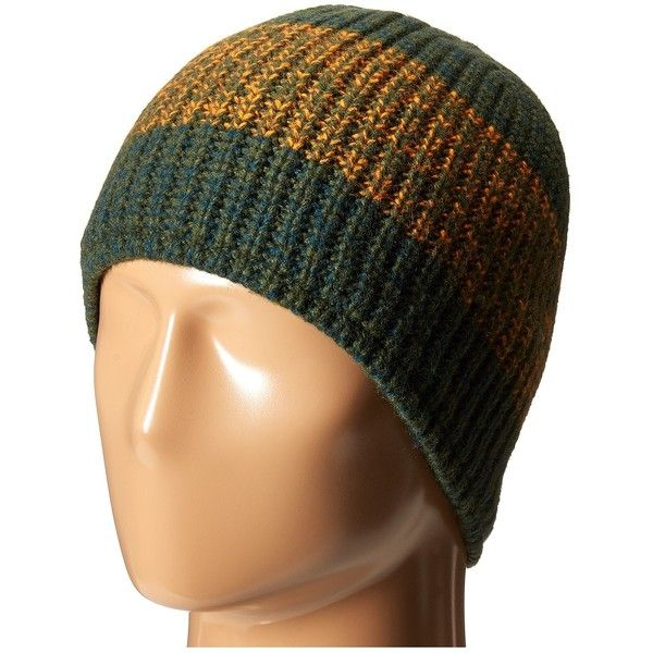 Patagonia Speedway Beanie (Speedway Twist/Fatigue Green) Beanies ($20) ❤ liked on Polyvore featuring accessories, hats, yellow, crown hat, patagonia, patagonia hat, yellow beanie and beanie hats