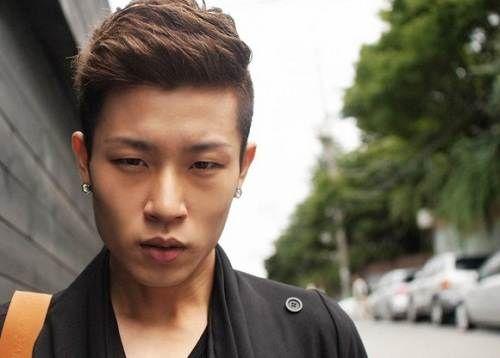 Men Asian Short Hairstyles in Semi Mohawk Trend