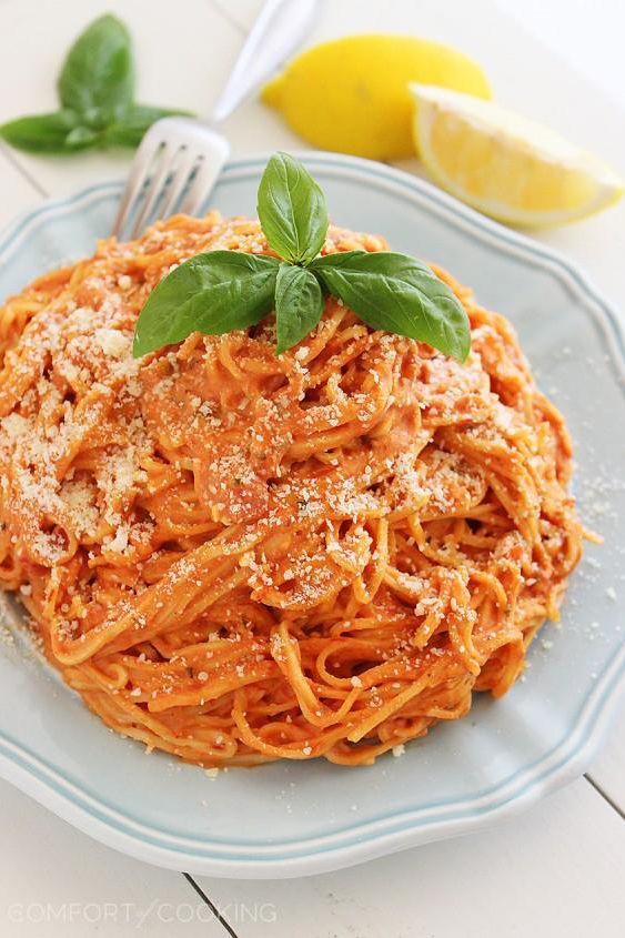 3-Ingredient Creamy Tomato Angel Hair Pasta Recipe