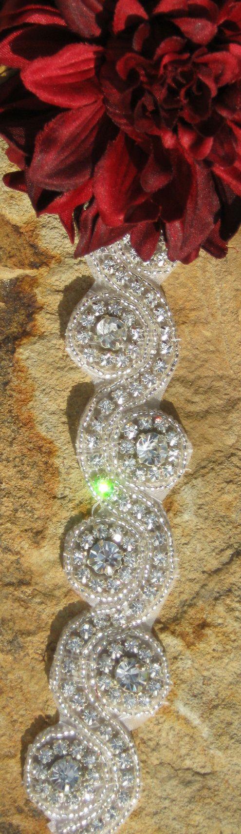 DIY Bridal Sash Beautiful Hand Beaded by CoutureEmbellishment, $15.99