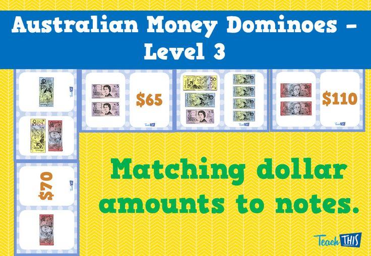Australian Money Dominoes Level 3