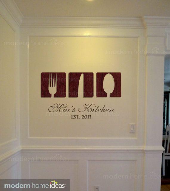 Kitchen Wall Decoration  Custom Kitchen Wall by ModernHomeIdeas, $39.99