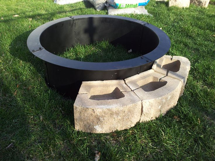 Steel Fire Pit Ring Metal fire pit, Steel fire pit ring