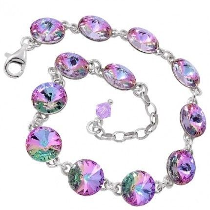 Bratara cu cristale swarovski http://www.bijuteriifrumoase.ro/cumpara/bratara-rivoli-r-8-bracelet-17cm-3219