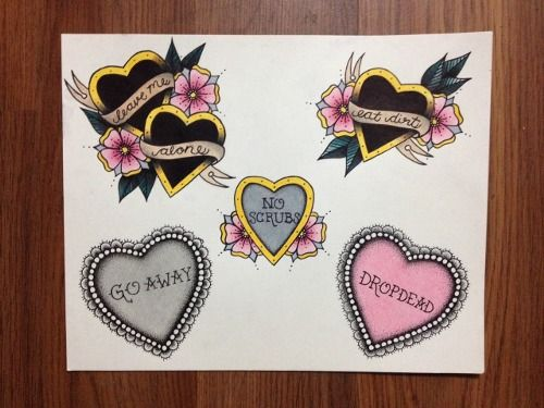 traditional heart tattoo | Tumblr