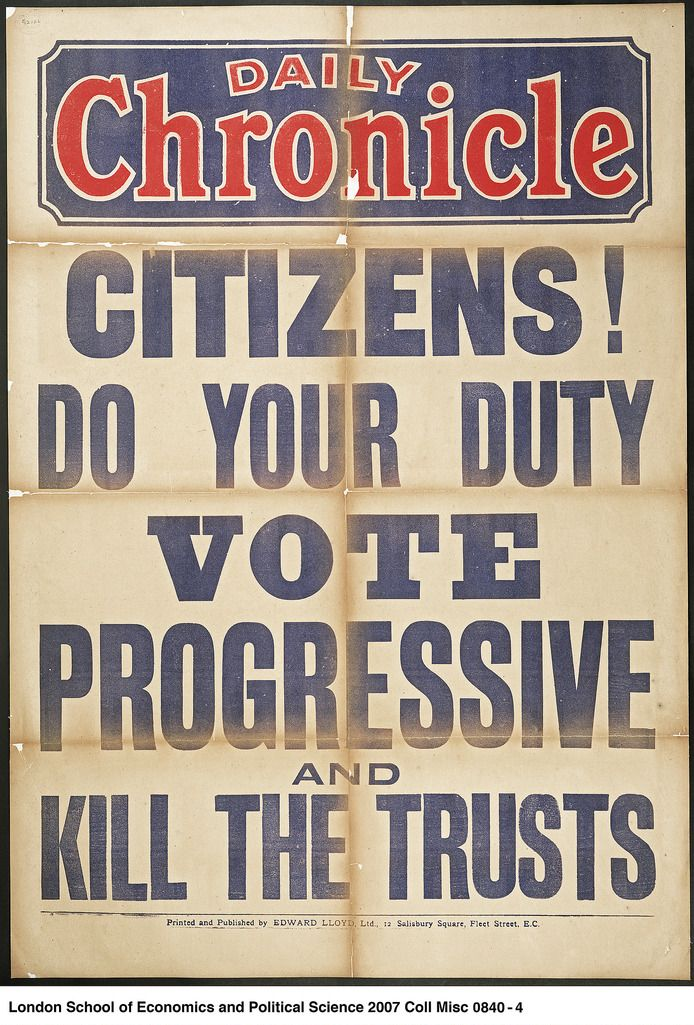 Coll Misc 0840-4 The title of this Newspaper bill is written in bold blue lettering on a white background. At the top of the poster is the logo of the Daily Chronicle newspaper.