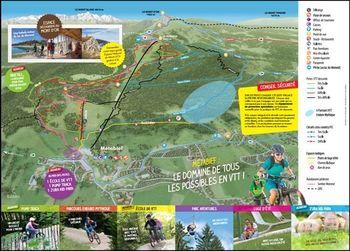 Plan des pistes VTT de Métabief