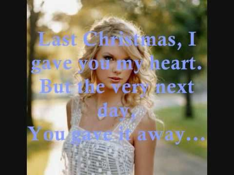 ▶ Last Christmas by Taylor Swift +Lyrics - YouTube