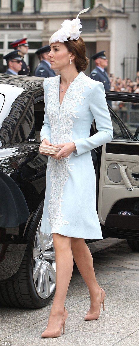 The Duchess of Cambridge arrives at St Paul's Cathedral - 10 June 2016