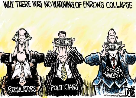 Enrons philosophy- money is everything