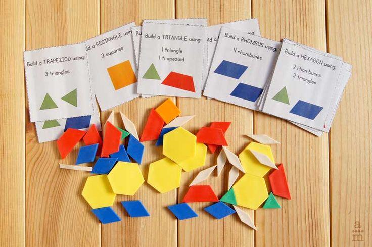 Las construcciones con bloques geométricos son una de las actividades para que los estudiantes trabajaran la composición y descomposición de figuras planas.