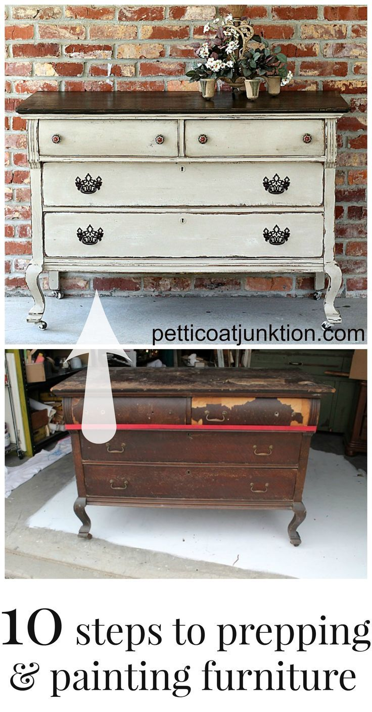 10 steps to prepping and painting furniture from Petticoat Junktion