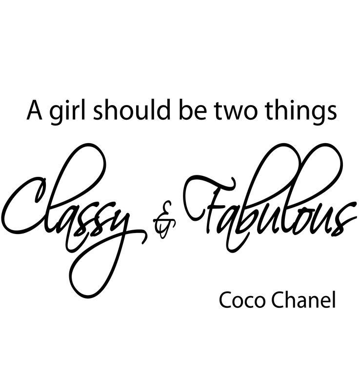 """Naklejki na ścianę cytaty Coco Chanel PROJEKT 361 """"girl should be"""" AG.art deco"""